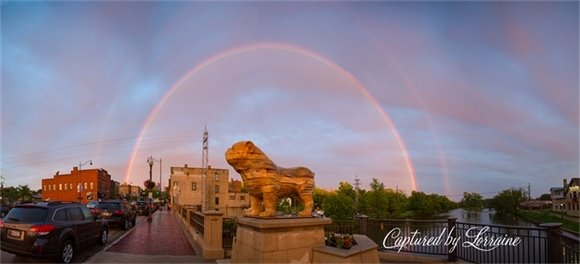 The story of the rainbow that capture Batavia's Imagination