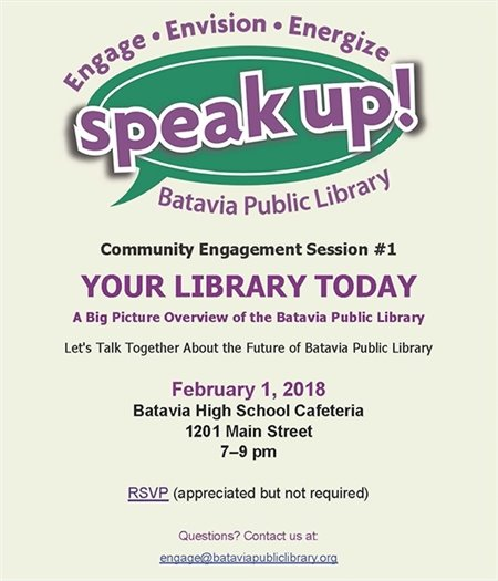 Speak Up flier