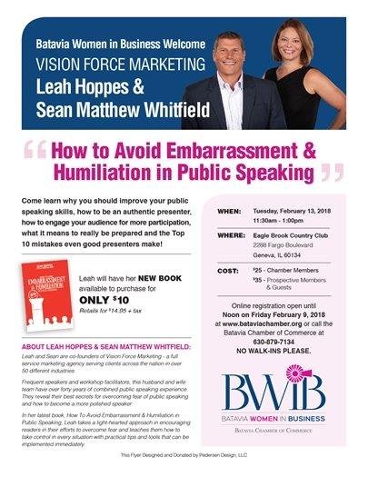 Batavia Chamber BWIB event Embarrassment speaking