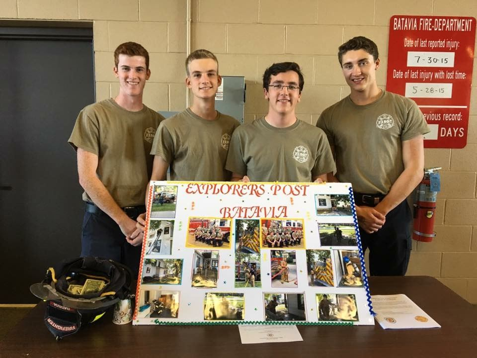 Explorer Program Group Holding a Sign