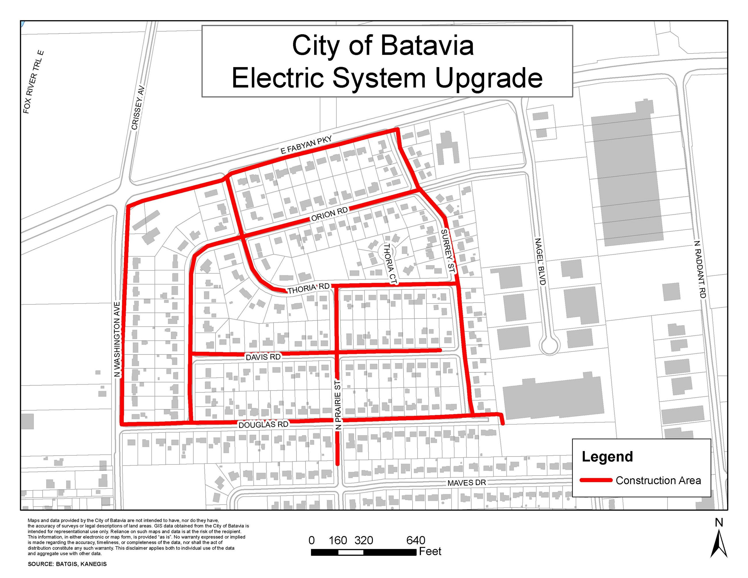 Electric Upgrade Map