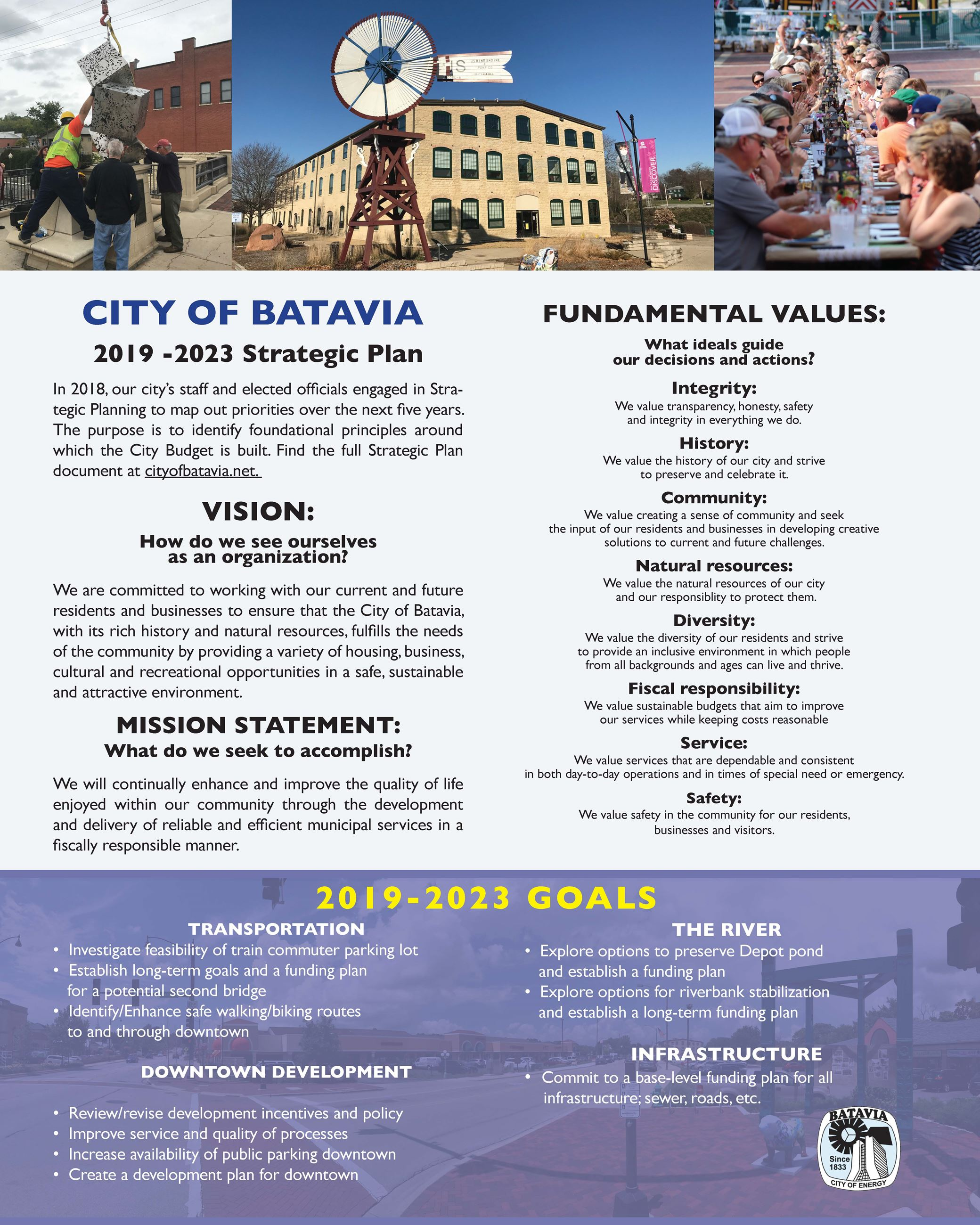 City Vision Mission and Values Final