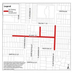 Map of Affected Streets