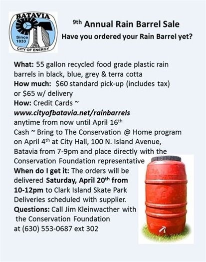 9th Annual Rain Barrel Sale