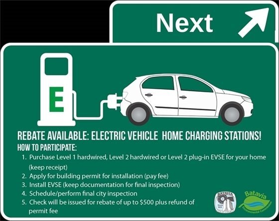 Rebate Available for Electric Vehicle Home Charging Stations