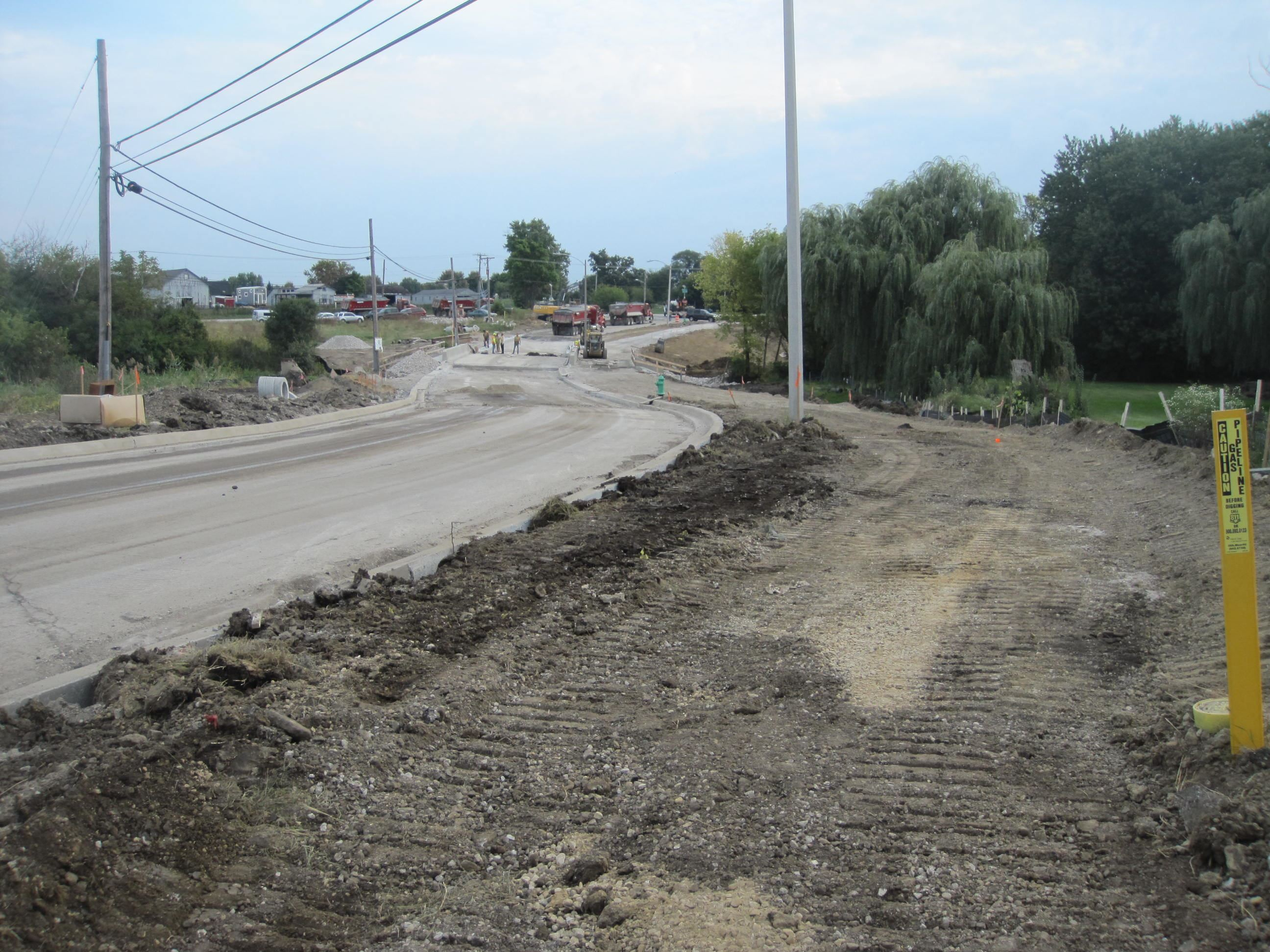 Road Being Torn Up