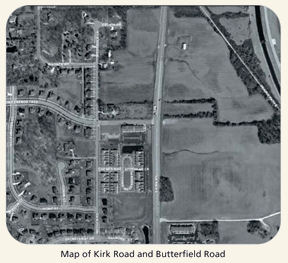 Map of Kirk Road and Butterfield Road