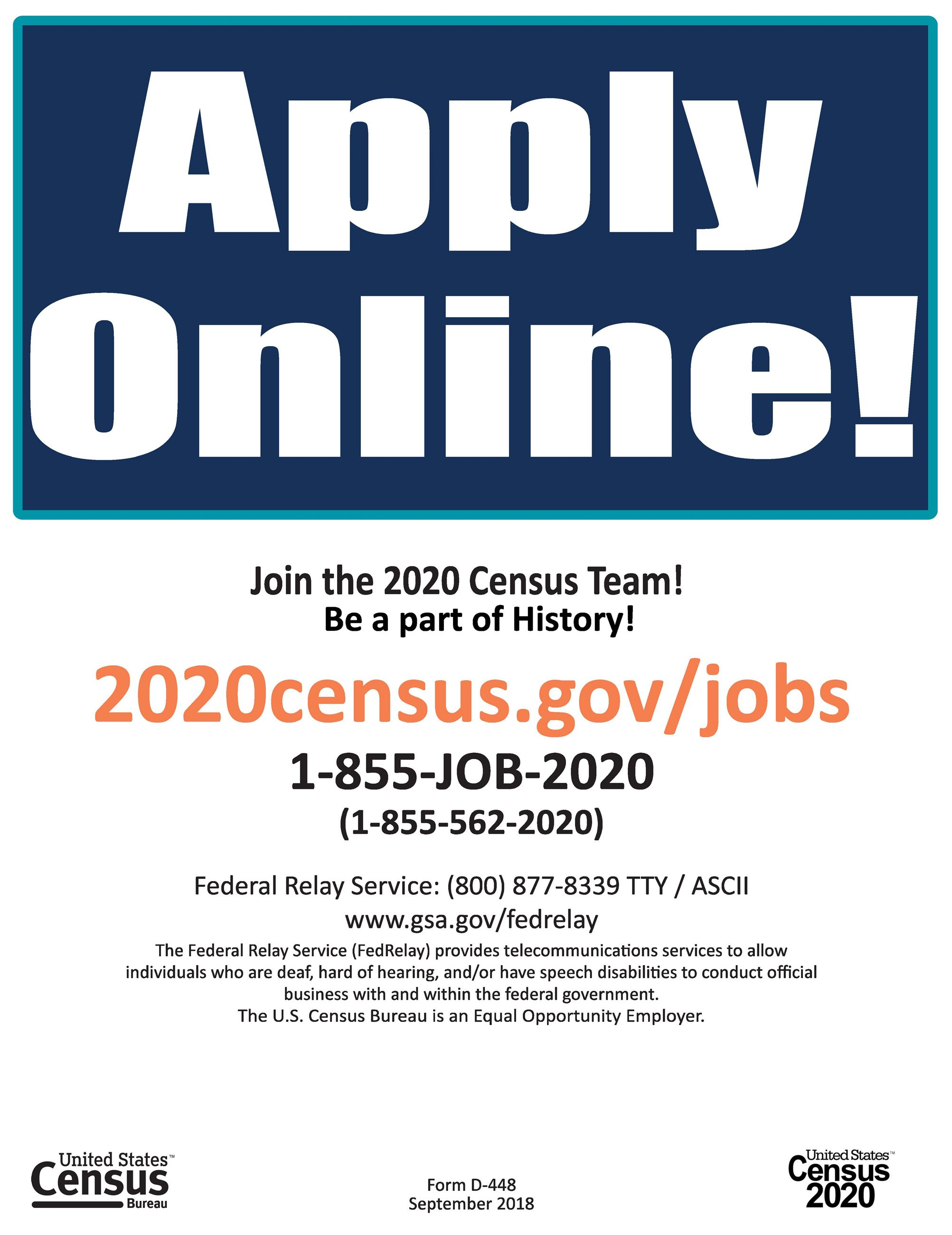 Census Recruiting Flyer JPEG Format