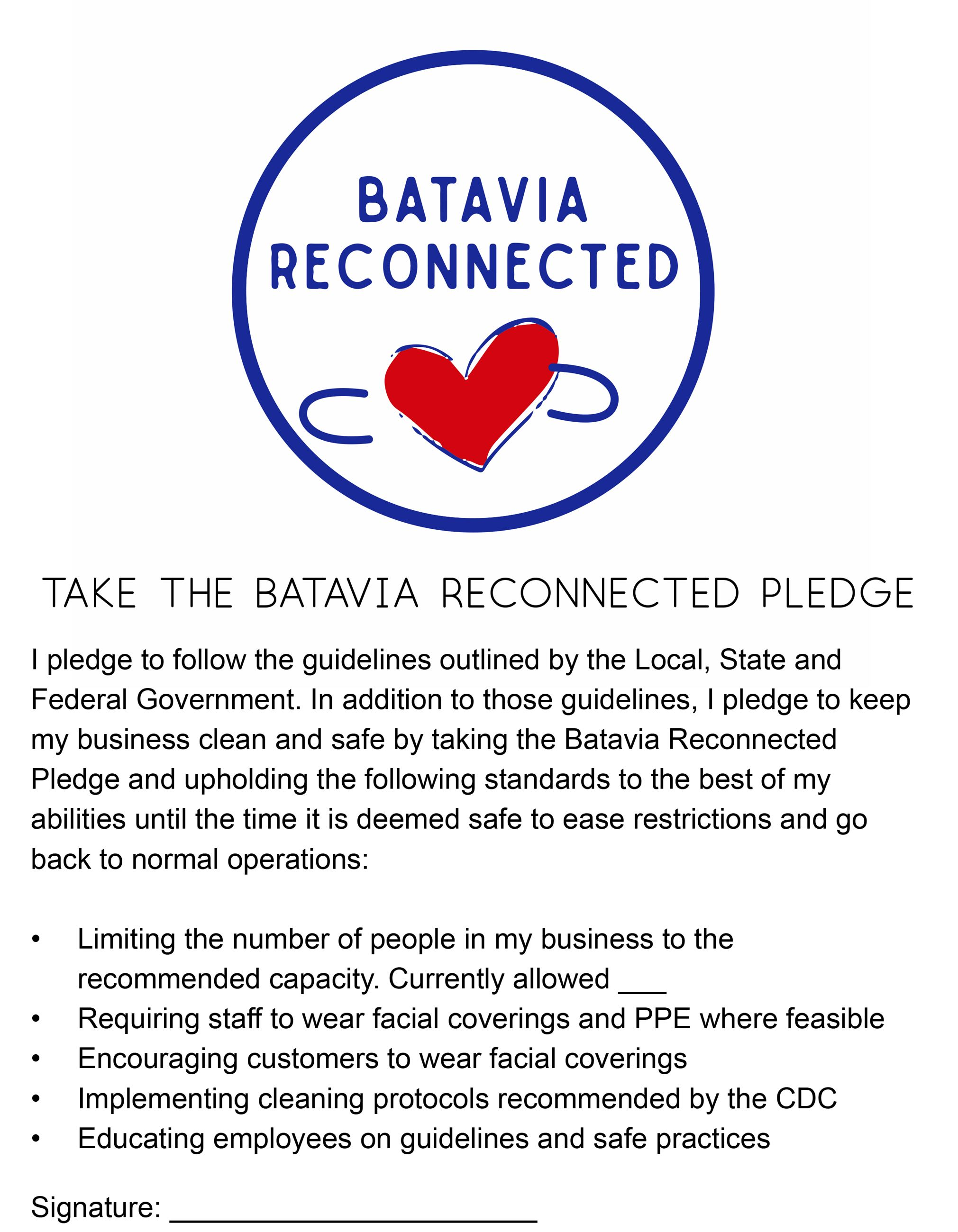 Batavia Reconnected- pledge